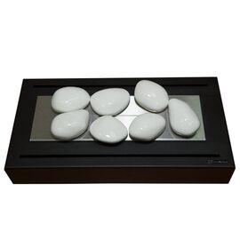 Керамическая галька Kratki №7 (белая)