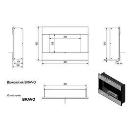 Биокамин Kratki BRAVO-PRO стальной