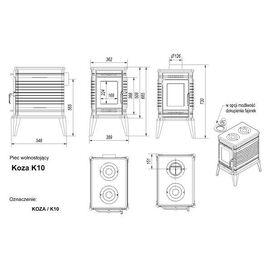 Печь Kratki Koza K10 турбина