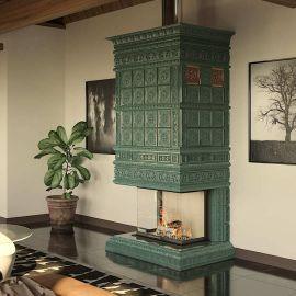 Камин Ceramica Дорф с топкой с 3-сторонним стеклом